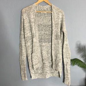 Abercrombie Gray Loose Knit Cardigan Sweater xs